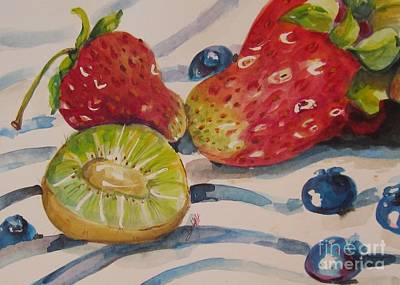 Kiwi And Berries Original by Delilah  Smith
