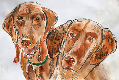 Kiwi And Remi Art Print by Jim  Arnold
