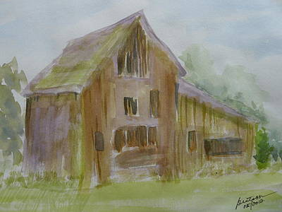 Painting - Klamath County Barn - Sketch by Joel Deutsch