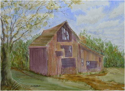 Painting - Klamath County Barn by Joel Deutsch