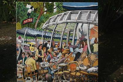 Painting - Kleber Cafe Paris by Joe Jaqua