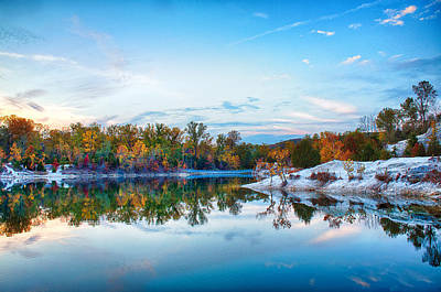 Charles Digital Art - Klondike Park Autumn Lake by Bill Tiepelman