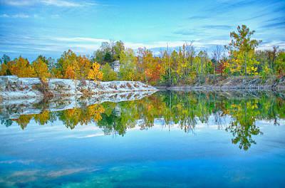 Charles Digital Art - Klondike Park Quarry Lake by Bill Tiepelman