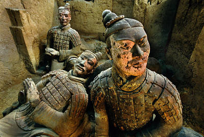 Qin Shi Huang Photograph - Kneeling Archers Rise From The Earth by O. Louis Mazzatenta