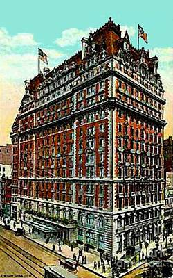 Painting - Knickerbocker Hotel In New York City Around 1910 by Dwight Goss