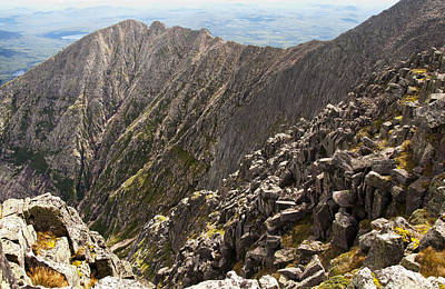 Photograph - Knife Edge Mount Katahdin Baxter State Park by Glenn Gordon