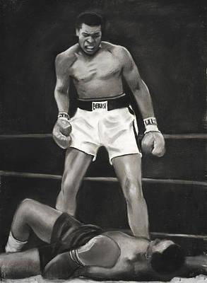 Knockdown Art Print by L Cooper