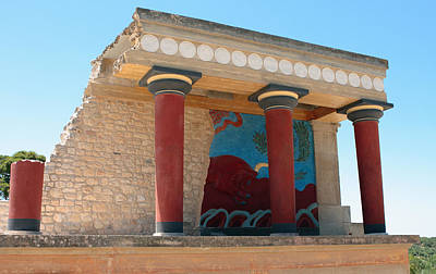 Minoan Photograph - Knossos North Gate by Paul Cowan