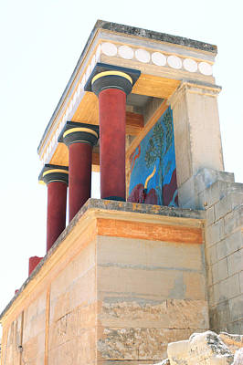 Minoan Photograph - Knossos North Gate Vertical by Paul Cowan