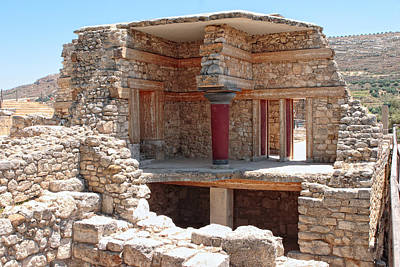 Minoan Photograph - Knossos Reconstruction by Paul Cowan