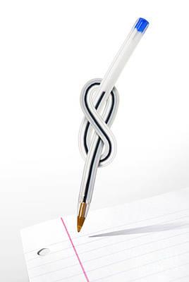 Ball Pen Work Photograph - Knot Pen by Carlos Caetano