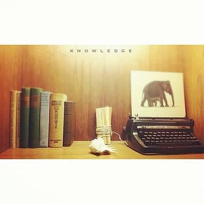Typewriter Photograph - #knowledge #books #typewriter #ig by Dicky Sutanto