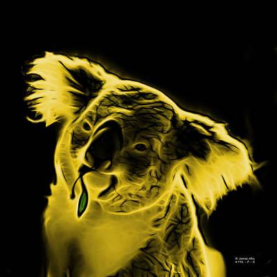 Koala Bear Digital Art - Koala Pop Art - Yellow by James Ahn