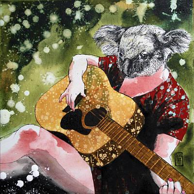Koala Mixed Media - Koalalala by Stephanie Heendrickxen