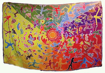 Silk Wall-hanging Painting - Kocsis by Rollin Kocsis