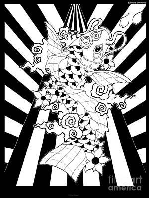 Koi Fish 3 Art Print by Enrique Simmons