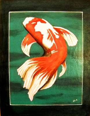 Koi Fish Art Print by Edwin Alverio