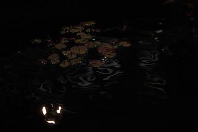 Koi In The Night Art Print by Viktor Savchenko