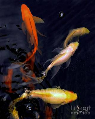 Digital Art - Koi Pond by Dale   Ford