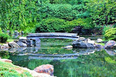 Koi Pond Pondering - Japanese Garden Art Print by Bill Cannon