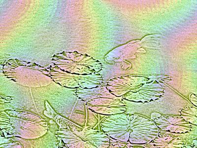 Koi Digital Art - Koi Rainbow by Tim Allen