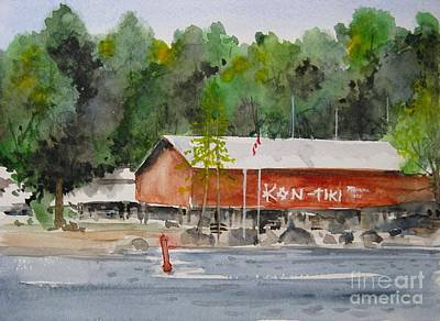 Painting - Kon Tiki Marina Lake Simcoe by Ronald Tseng