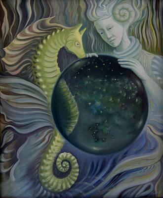 Art Print featuring the painting Konkyliekvinnen by Tone Aanderaa