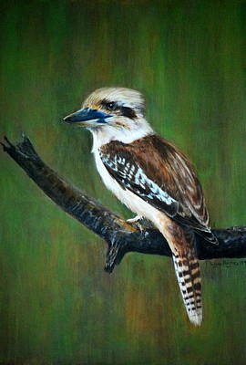 Print featuring the painting Kookaburra by Lynn Hughes