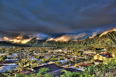 Photograph - Koolau Mountains With Lighttrack App by Dan McManus