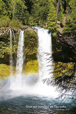 Photograph - Koosah Falls by Mick Anderson