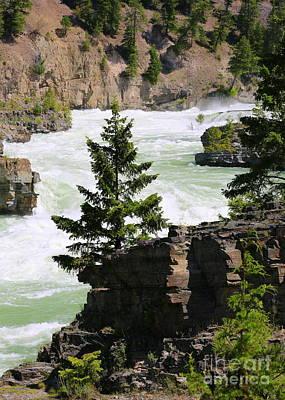 Photograph - Kootenai Falls In Montana by Carol Groenen