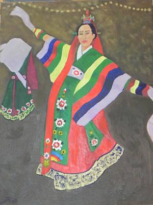 Painting - Korean Dance by Ernie Goldberg