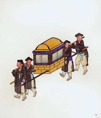 Korean Porters Art Print by Charles Shoup