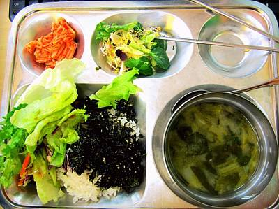 Y120907 Photograph - Korean School Lunch by Claire-Marie Harris