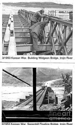 Photograph - Korean War 3-1953 Building Bridges by Merton Allen