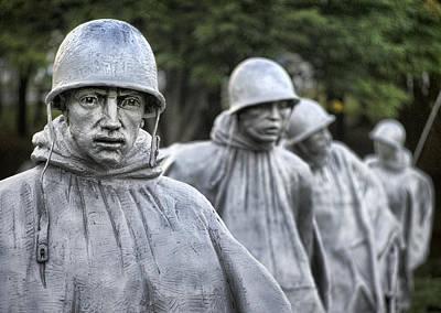 Korean War Memorial Photograph - Korean War Memorial Patrol 2 by Jim Pearson