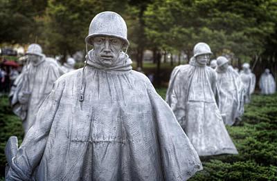 Korean War Memorial Photograph - Korean War Memorial Patrol by Jim Pearson