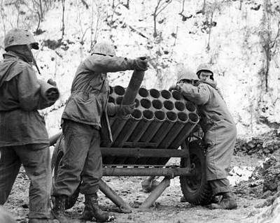 Photograph - Korean War: Rocket by Granger
