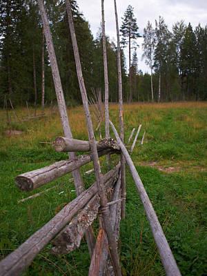 Abstract Male Faces - Kovero fence by Jouko Lehto