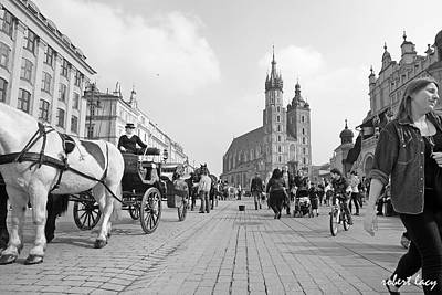 Krakow Carriages Art Print by Robert Lacy