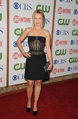 Kristen Bell Photograph - Kristen Bell Wearing A Versus Dress by Everett