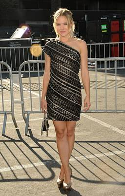 Kristen Bell Wearing An Etro Dress Art Print