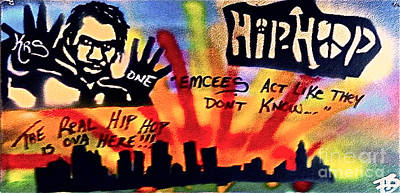 Free Speech Painting - Krs One by Tony B Conscious