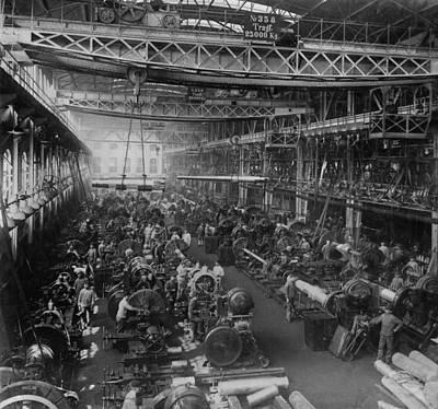 Mechanization Photograph - Krupp Cannon Manufacturing In Essen by Everett