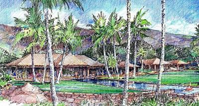 Kukio Estate Art Print by Andrew Drozdowicz