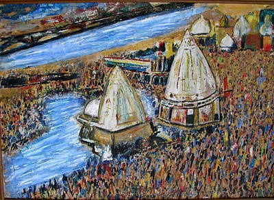 Painting - Kumbhmela At Haridwar by Anand Swaroop Manchiraju