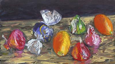 Kumquats And Candy Art Print by Scott Bennett