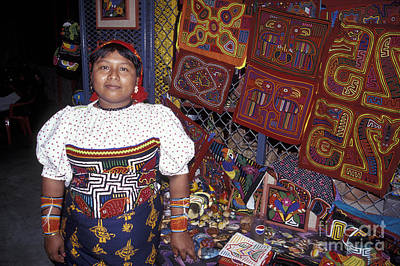 Photograph - Kuna Indian Woman Panama by John  Mitchell