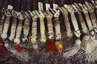 Shaolin Photograph - Kung Fu Sword Handles And Tassels Used by Justin Guariglia
