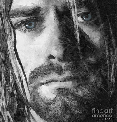 Kurt Cobain Mixed Media - Kurt Cobain by Elizabeth Coats